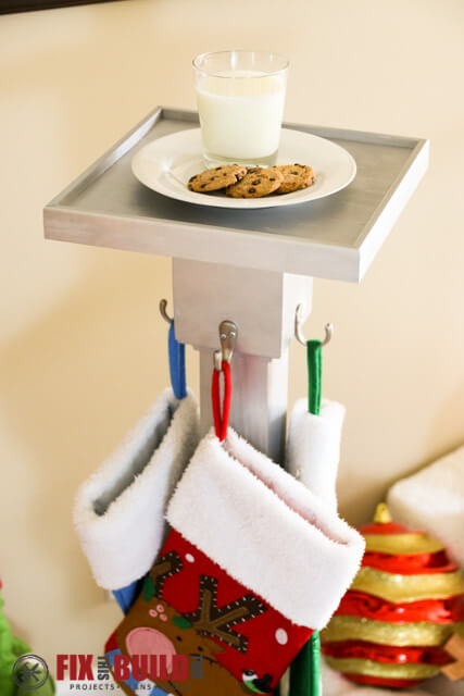 Build a DIY Christmas Stocking Hanger Post