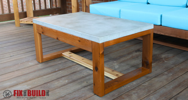 DIY Concrete Top Outdoor Coffee Table FixThisBuildThat - Pottery barn outdoor coffee table
