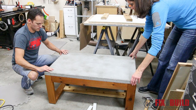 putting concrete top on outdoor coffee table