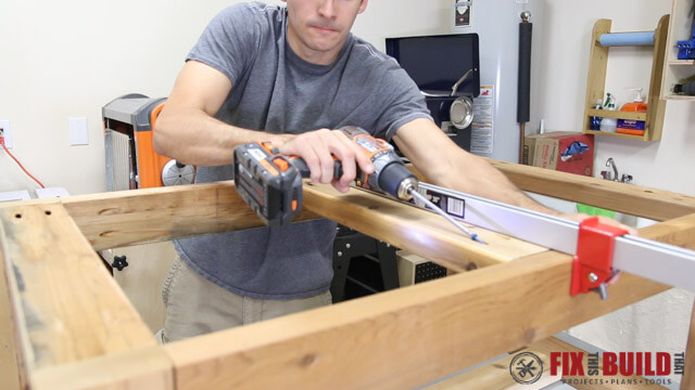 attaching coffee table top support