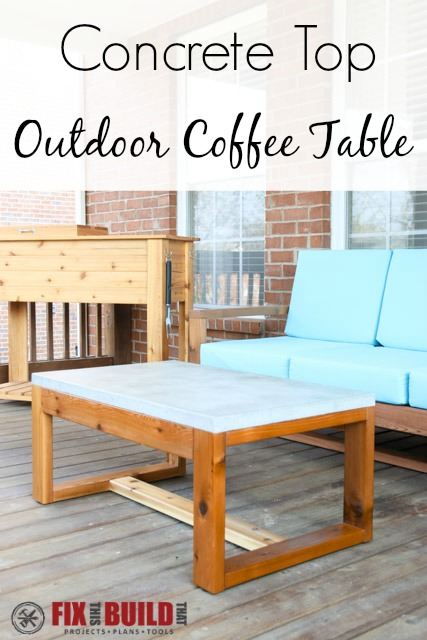 Build a DIY Concrete Top Outdoor Coffee Table