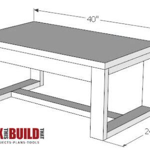 DIY concrete top coffee table plans