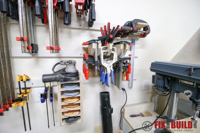 small clamp storage rack