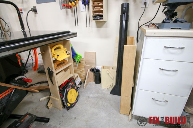 tablesaw floor storage