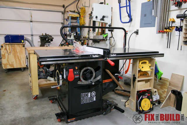 sawstop 5hp industrial tablesaw