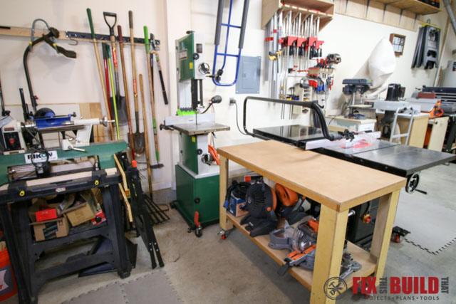 back of tablesaw area