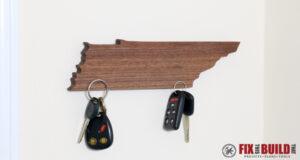DIY Magnetic Key Holder Plans