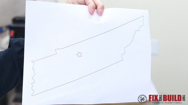 tennessee state shape printout
