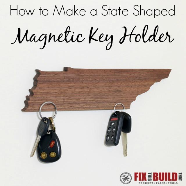 Make a State Shaped DIY Magnetic Key Holder