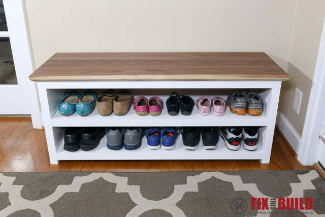 Own Diy Shoe Storage Bench In My Which Include A Full Cut List Materials Needed And Step By Instructions With Drawings For Each
