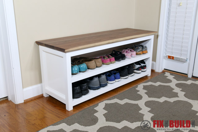 Merveilleux You Can Get Detailed Plans For This DIY Entryway Shoe Storage Bench Below.  If You Want To See Other Cool Furniture Projects For The Home Then Head  Over To ...