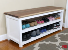 DIY Entryway Shoe Storage Bench-106