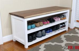 DIY Entryway Shoe Storage Bench-106
