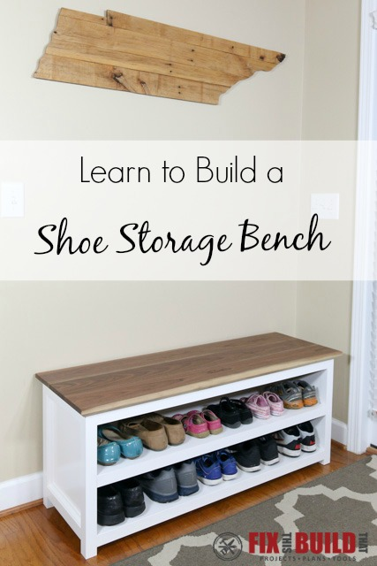Sensational Diy Entryway Shoe Storage Bench Fixthisbuildthat Gmtry Best Dining Table And Chair Ideas Images Gmtryco