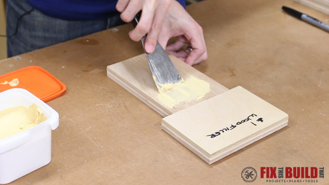 Plugging Pocket Holes with Wood Filler