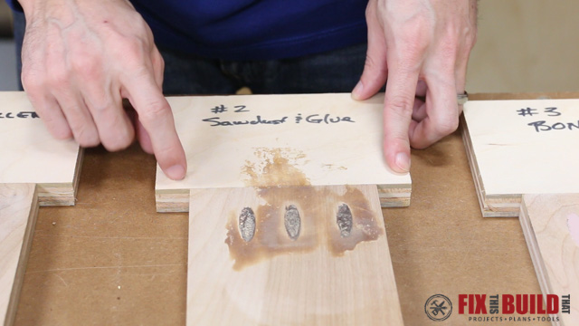 Filling Pocket Holes with Sawdust and Glue
