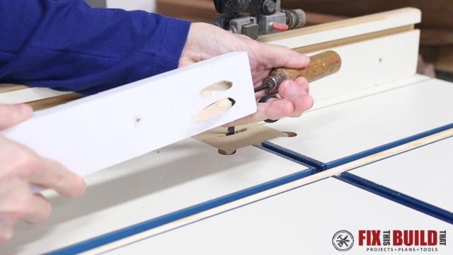 Hand jobs through hole in table