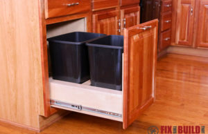 DIY Pull Out Trash Can for Kitchen Cabinet