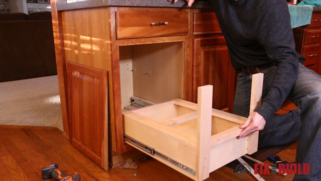 Diy Pull Out Trash Can Fixthisbuildthat