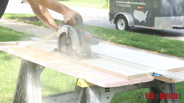 ripping with ridgid 18v circular saw