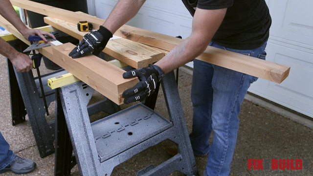 crosscutting 2x4 with circular saw