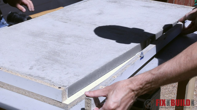 concrete form removal from side table top