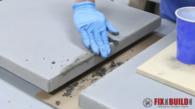 filling voids in a concrete top