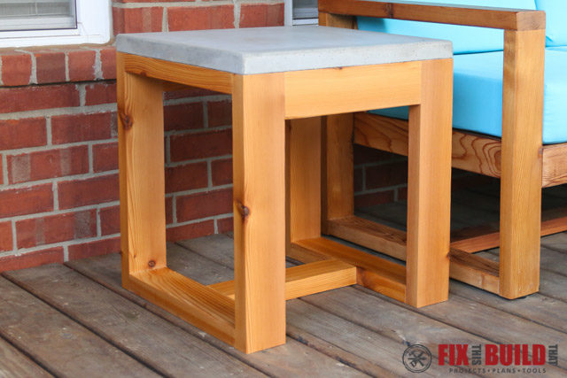 DIY Outdoor Side Table (2x4 and Concrete) | FixThisBuildThat
