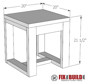 diy outdoor side table plans fix this build that