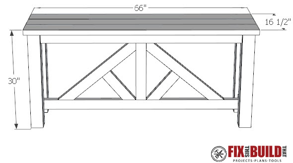 DIY Truss Sofa Table Plan