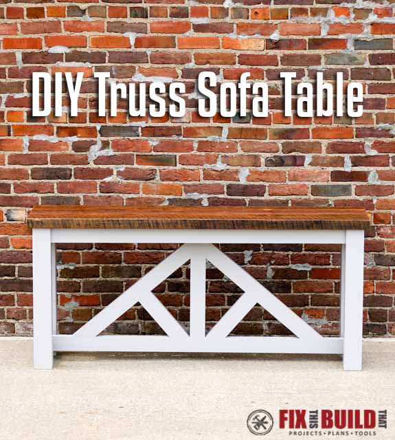 DIY Truss Sofa Table Plans