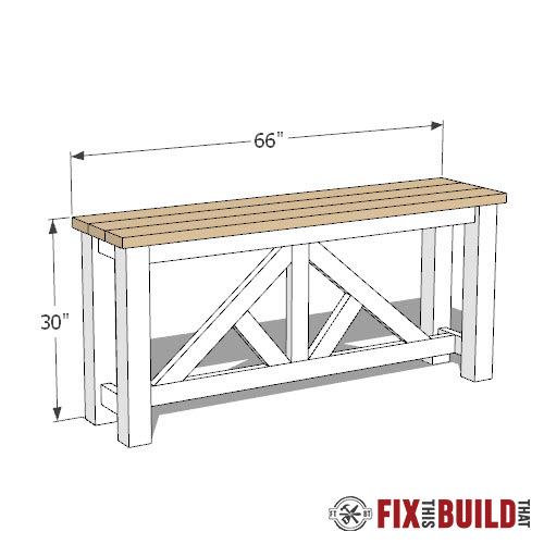 diy sofa table plan
