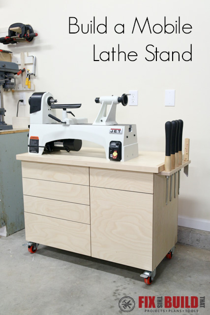 Build a DIY Wood Lathe Stand