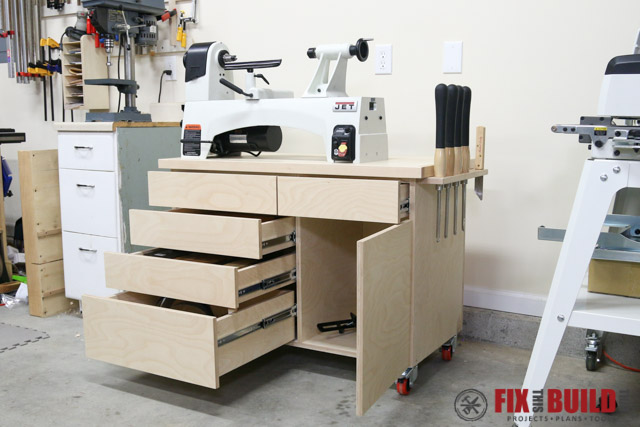 Wood Lathe Stand With Storage Fixthisbuildthat