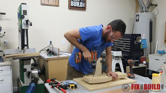 DIY Curved Cutting Board Bent Lamination-10