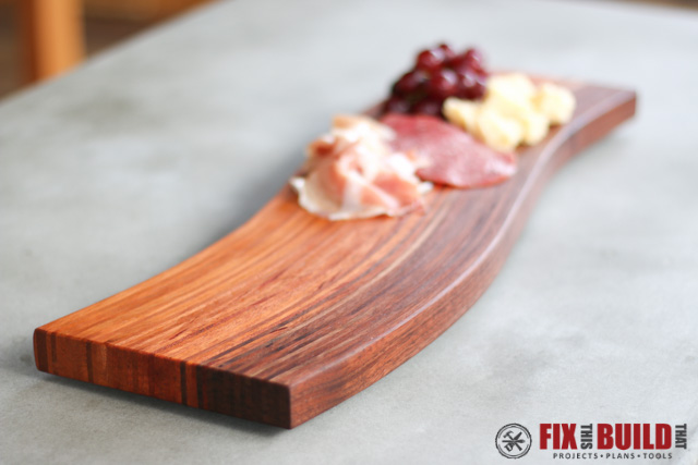 Diy Curved Cutting Board With Bent Lamination