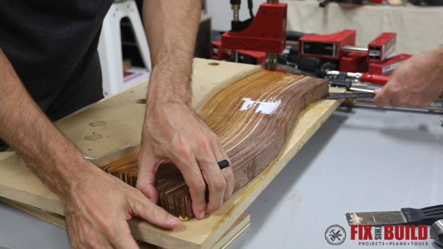 DIY Curved Cutting Board Bent Lamination-14