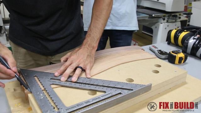 DIY Curved Cutting Board Bent Lamination-17