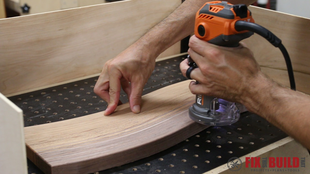trim router on a wooden cutting board