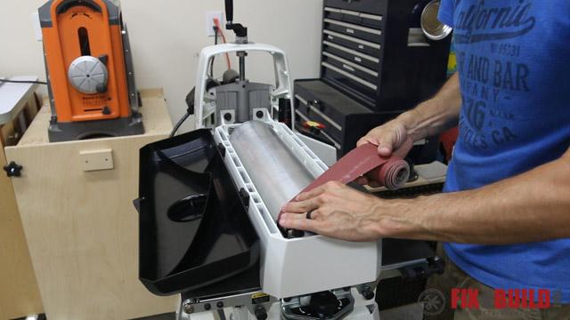 Changing sandpaper on JET 18-36 Drum Sander
