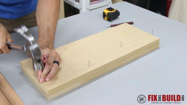 DIY Curved Cutting Board Bent Lamination-7