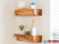 DIY Floating Shelves from Firewood