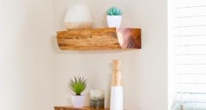 DIY Floating Shelves from Firewood