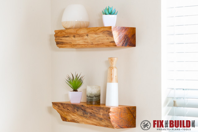 Turn Firewood Into DIY Floating Shelves FixThisBuildThat Enchanting How Are Floating Shelves Attached