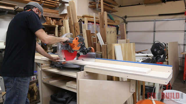 cutting parts for base cabinet drawers