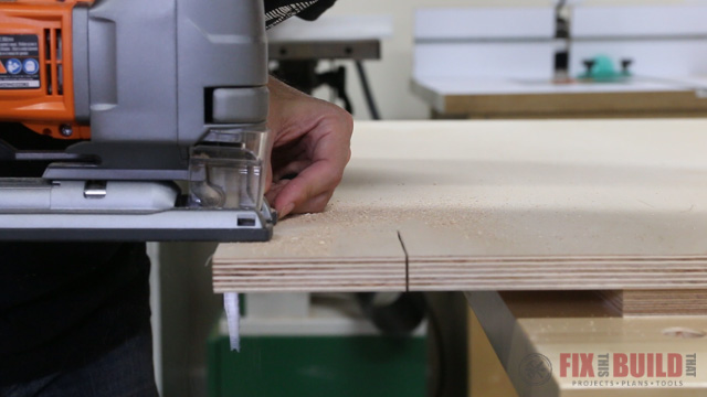 how to cut a toe kick plate on a base cabinet