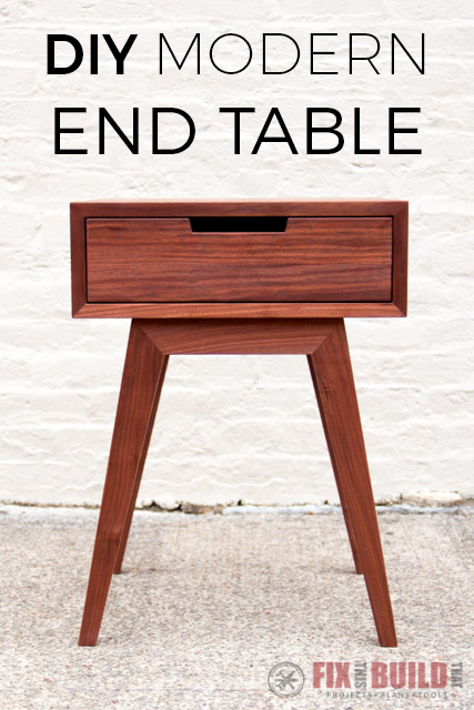 Modern End Table Plans Easy Craft Ideas