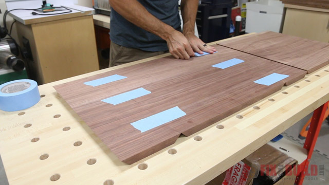 how to glue up a mitered box with tape