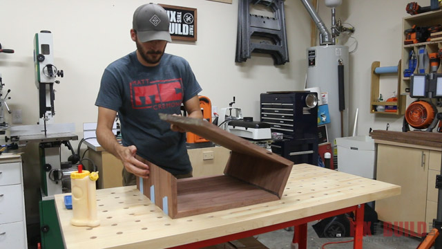 gluing up a mitered box