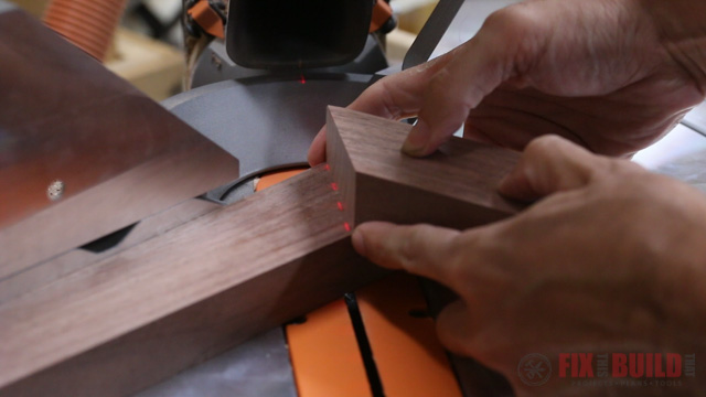 using laser on miter saw to cut accurate miters